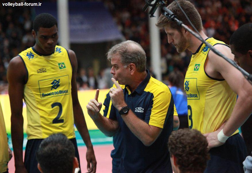 سرمربی تیم ملی والیبال برزیل : آرژانتین توان مقابله با برزیل را نداشت !