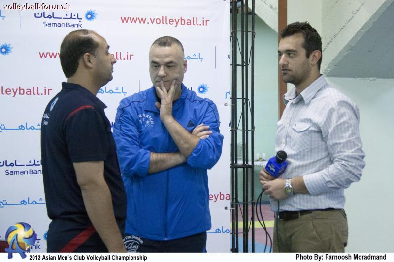 مصاحبه سرمربیان دو تیم گاز هند و بشیریه لبنان بعد از بازی !