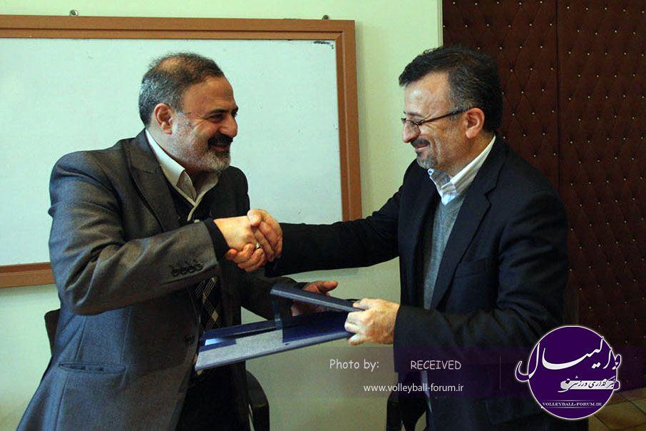امضای تفاهم نامه دو جانبه فدراسیون والیبال و بنیاد سینمایی فارابی