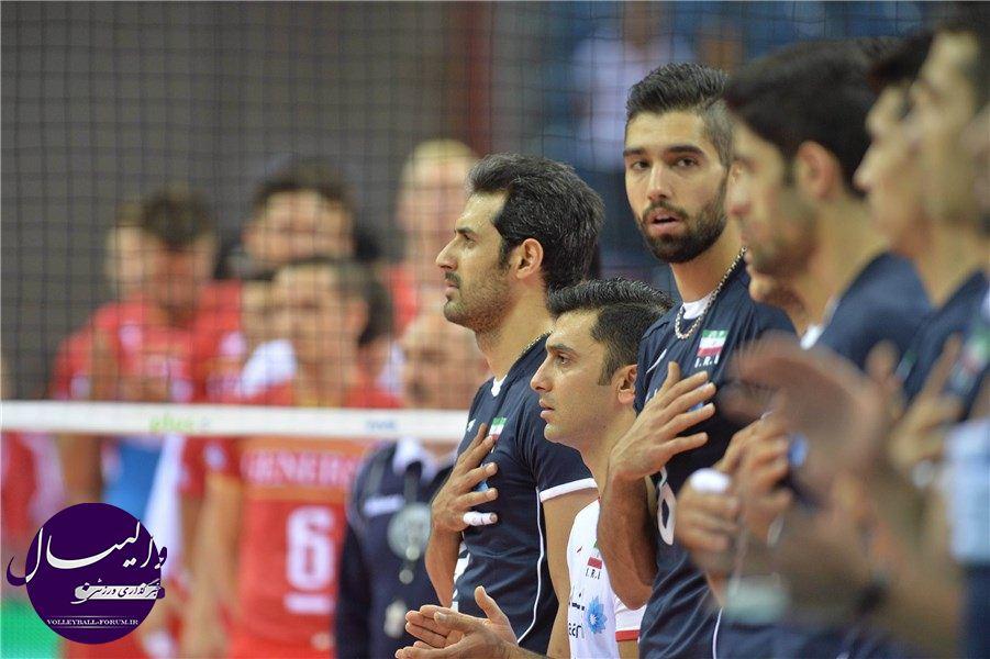آمار بازی والیبال ایران و فرانسه