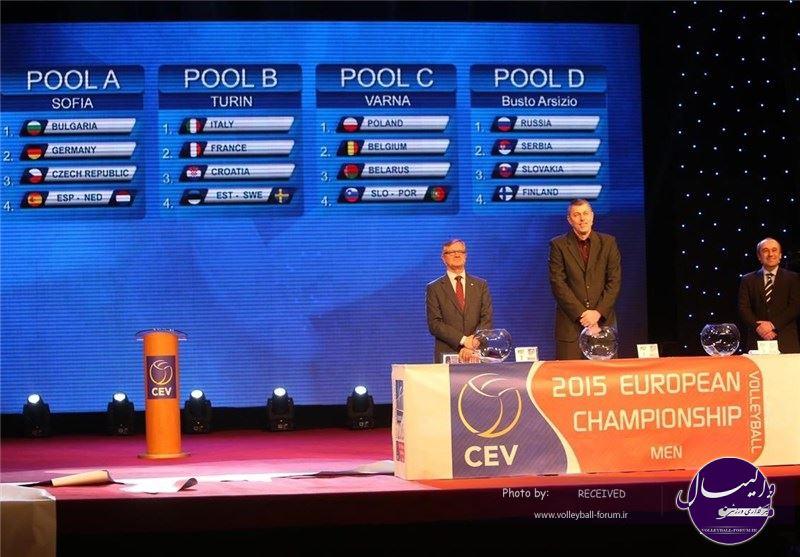 قرعهکشی مسابقات والیبال قهرمانی مردان اروپا برگزار شد + تصویر