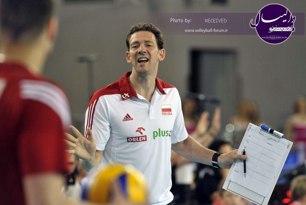 سرمربی لهستان : امیدوارم مقابل ایران والیبال بهتری ارائه دهیم !