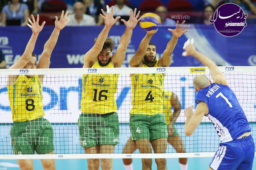 پیروزی برزیل بر روسیه/ امید والیبال ایران برای صعود بیشتر شد !