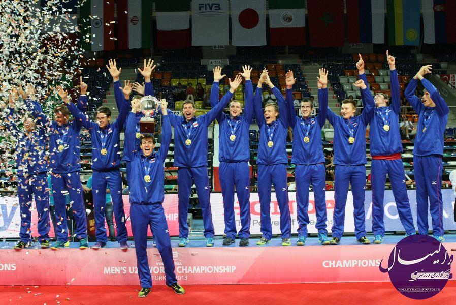 جدول رده بندی مسابقات جهانی/ روسیه قهرمان والیبال جوانان 2013 جهان شد !