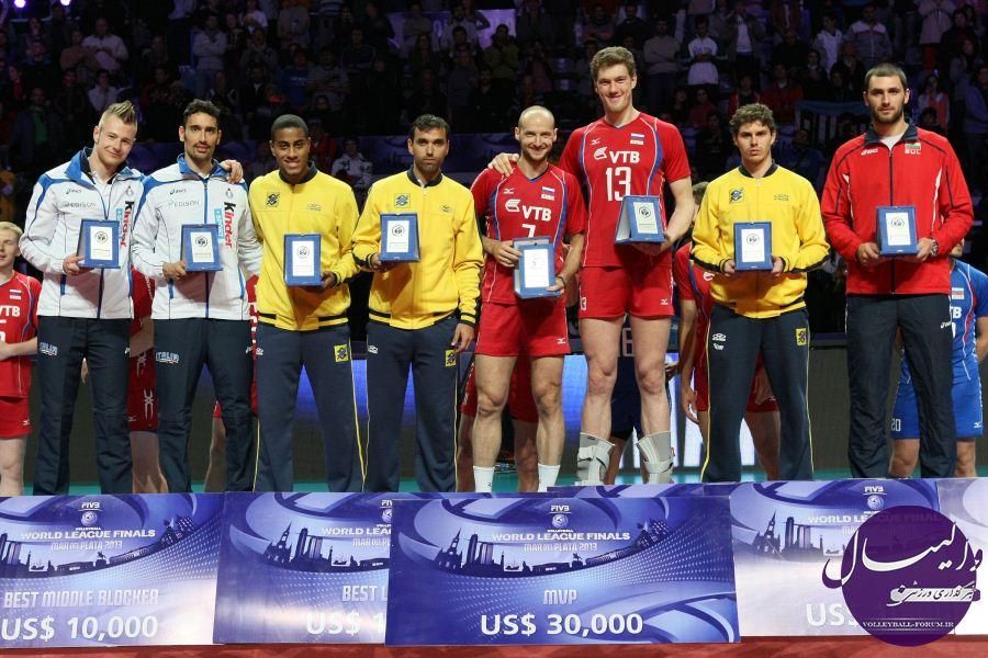 تیم رویایی لیگ جهانی والیبال فصل 2013 /سه بازیکن ازنایب قهرمان لیگ جهانی !