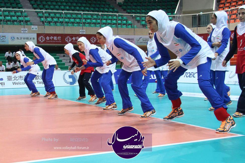 گزارش تصویری ازتمرین تیم ملی والیبال جوانان دختر ایران !