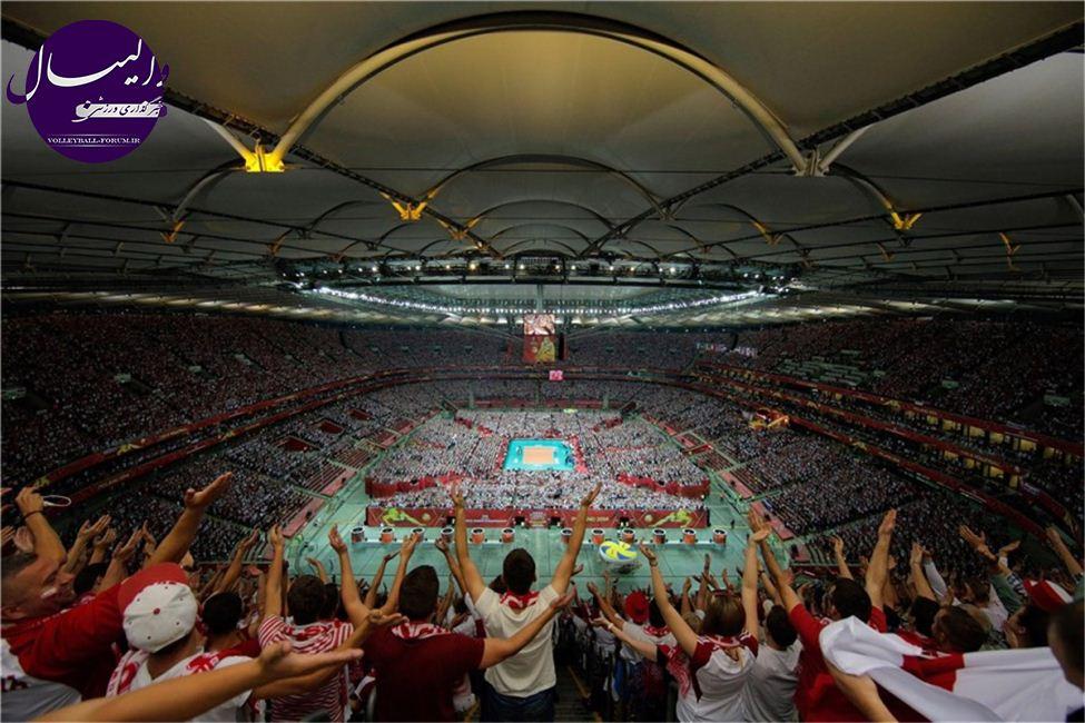 رکوردشکنی تماشاگران لهستانی در والیبال قهرمانی جهان !