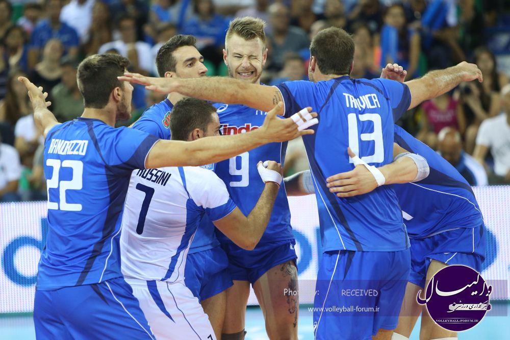 مرحله نهایی لیگ جهانی والیبال /پیروزی قاطع ایتالیا برابر آمریکا !