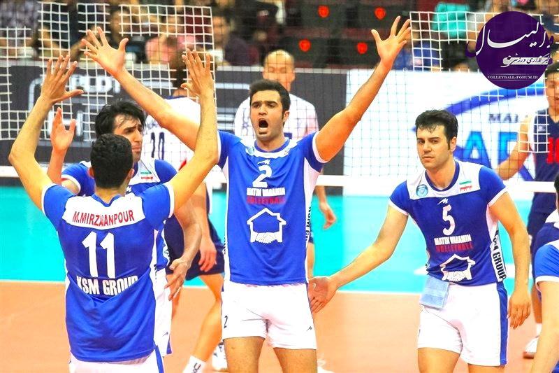 گزارش تصویری از مسابقه متین ایران-چین تایپه والیبال قهرمانی باشگاه های مردان آسیا !