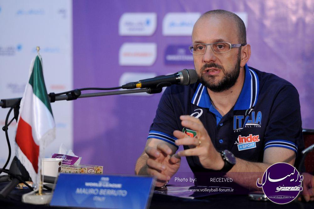 سرمربی ایتالیا : والیبال ایران در هفته های اخیر بهتر شده است !