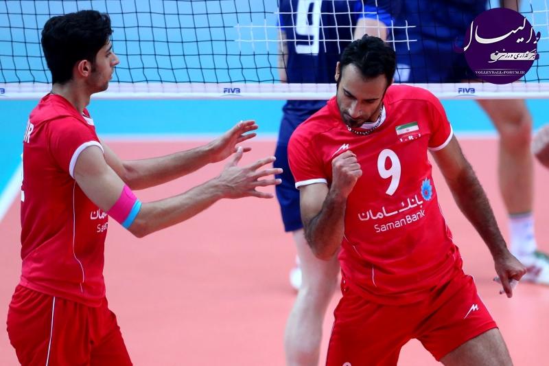 گزارش تصویری از دومین مسابقه ایران و ایتالیا در لیگ جهانی