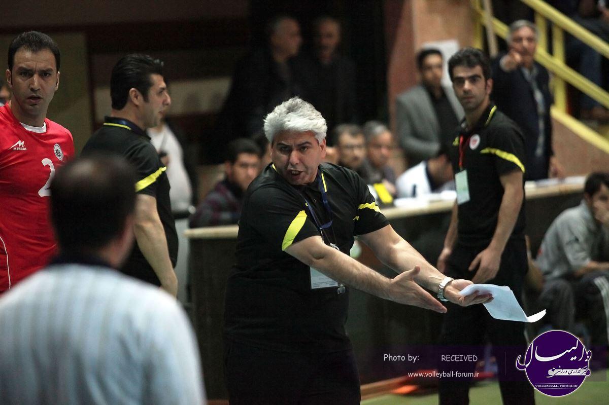 سرمربی والیبال شهرداری تبریز: بازیکنانم در هر دو بازی مقابل متین با تمام توان در میدان حاضر شدند