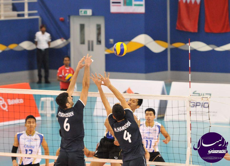 تصاویری از دیدار تیم ملی والیبال جوانان - تایلند