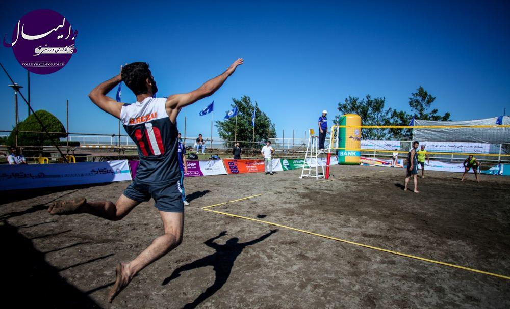 نتایج کامل مرحله نیمه نهایی والیبال ساحلی /بیمه کار آفرین و شهرداری ارومیه به دیدار نهایی راه یافتند