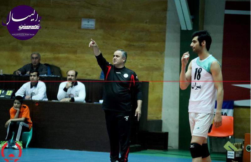 قوچان نژاد ، سرمربی والیبال میزان : دل جامعه والیبال ایران به درد آمد! / مقابل ارومیه میجنگیم !