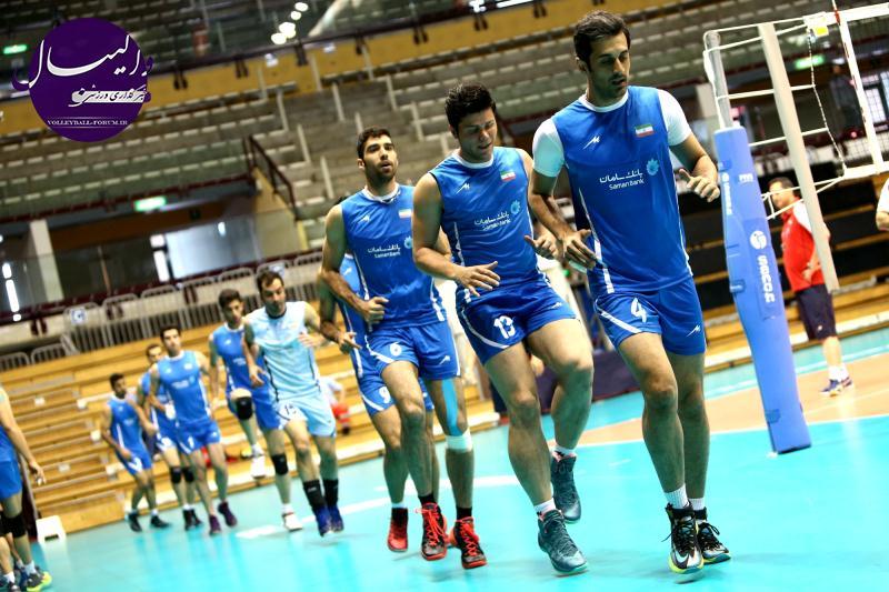 گزارش تصویری از تمرین تیم ملی والیبال ایران در تریسته ایتالیا