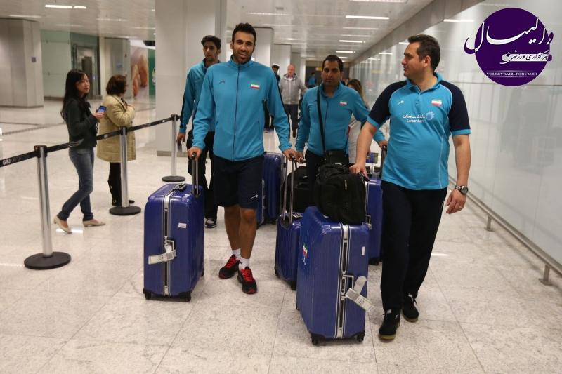 تیم ملی والیبال ایران پس از سفر 12 ساعته به سائوپائولوی برزیل رسید .