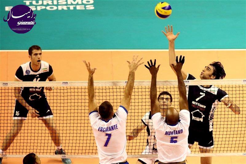 تیم والیبال متین ایران در دومین گام نماینده پورتوریکو را شکست داد !