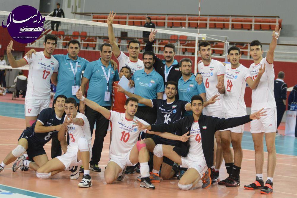 تیم ملی والیبال جوانان بر بام آسیا قرار گرفت / چین پرادعا حریف ایران نشد !