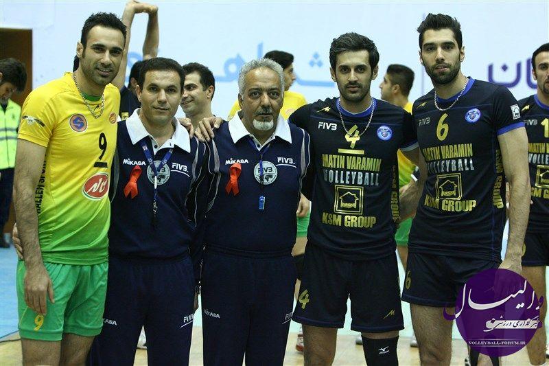 کاپیتان تیم متین ورامین ، سعید معروف : فینال حکایت از رشد واقعی والیبال ایران داشت !