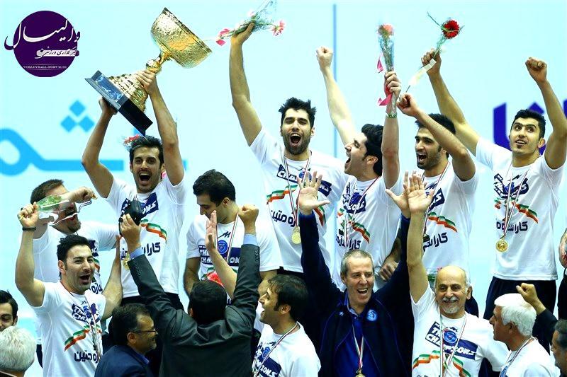 تیم والیبال متین ایران قهرمان جام باشگاه های والیبال آسیا شد !