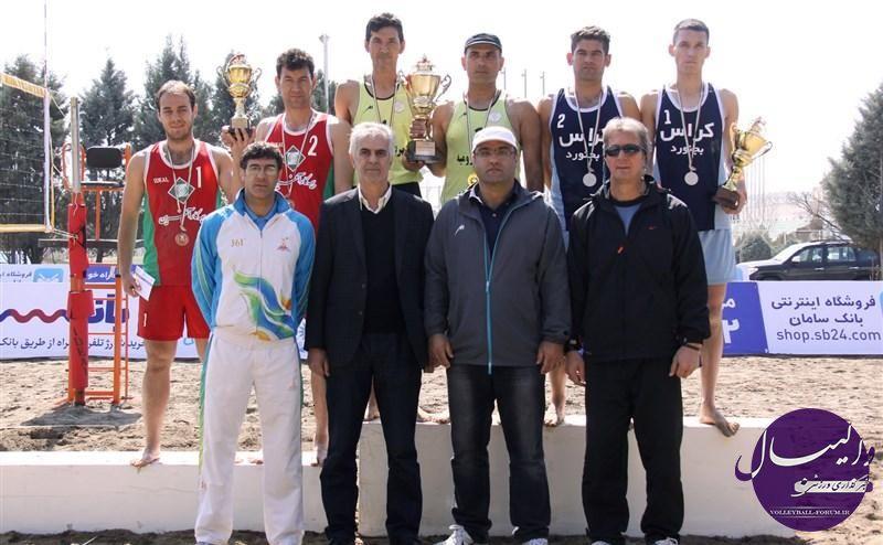 گزارش تصویری از اختتامیه دومین دوره مسابقات والیبال ساحلی قهرمانی کشور در سال 92