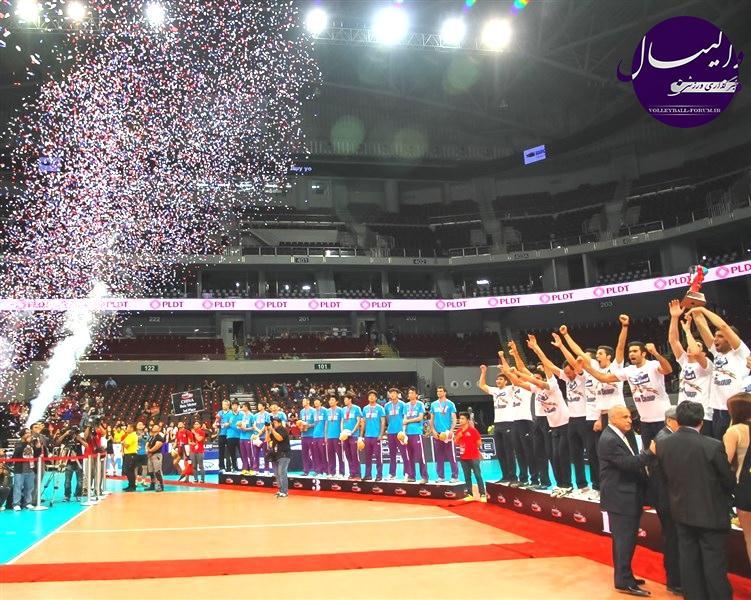گزارش تصویری از مراسم اهدای جوایز مسابقات والیبال قهرمانی باشگاه های آسیا (2)