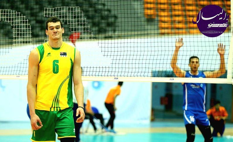 گزارش تصویری از آخرین مسابقه دوستانه والیبال ایران - استرالیا در تهران