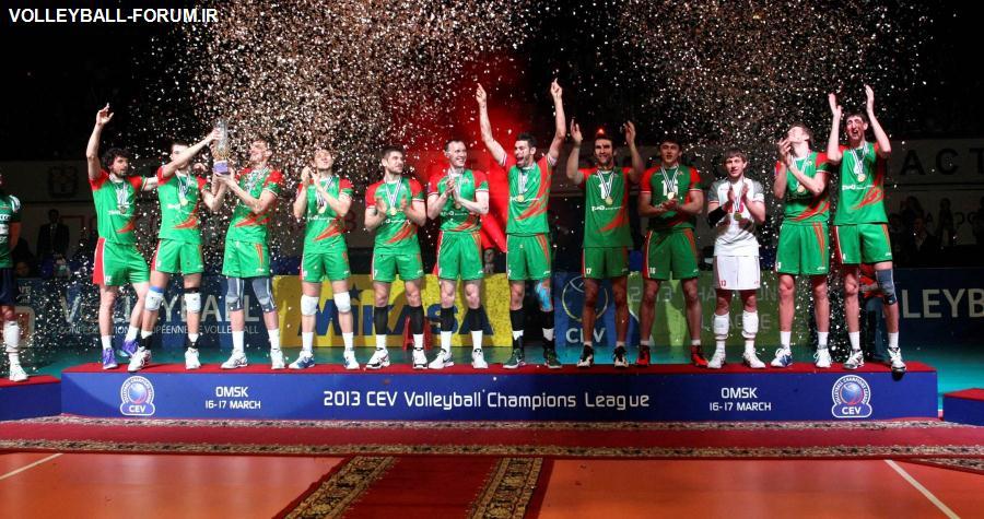 تیم والیبال لوکوموتیو روسیه در یک بازی نفسگیر قهرمان رقابت های لیگ قهرمانان 2013 اروپا شد!