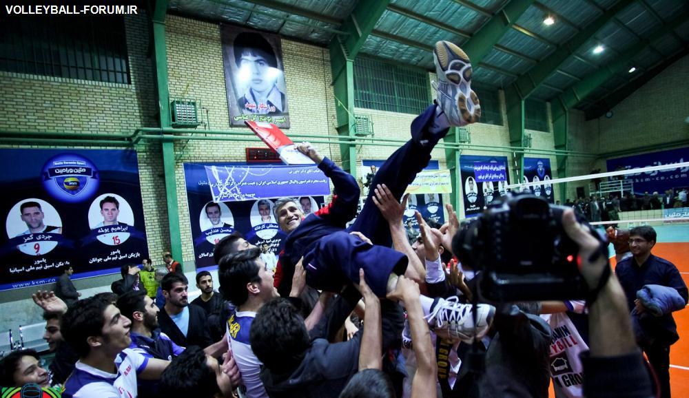 گزارش تصویری از بازی سوم پلی آف متین ورامین-سایپای البرز