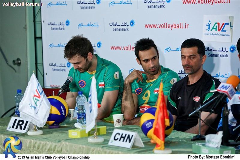 کنفرانس خبری سرمربیان دو تیم کاله ایران و لیونینگ چین بعد از بازی !