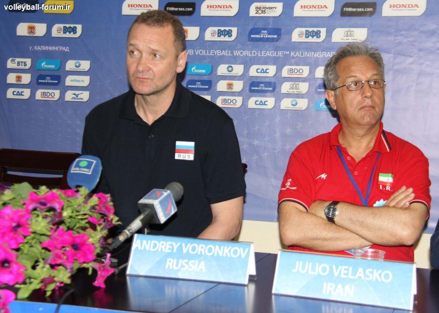کنفرانس خبری قبل از بازی سرمربیان تیم ملی والیبال ایران و روسیه !