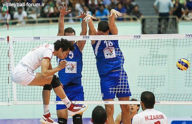 گزارش ست به ست بازی تیم ملی والیبال ایران و صربستان