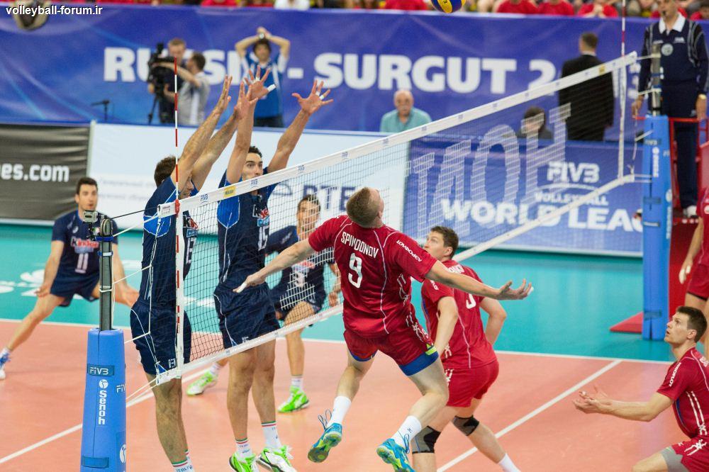 ایتالیا در سیبری از سد روسیه گذشت +جدول رده بندی گروه B لیگ جهانی !