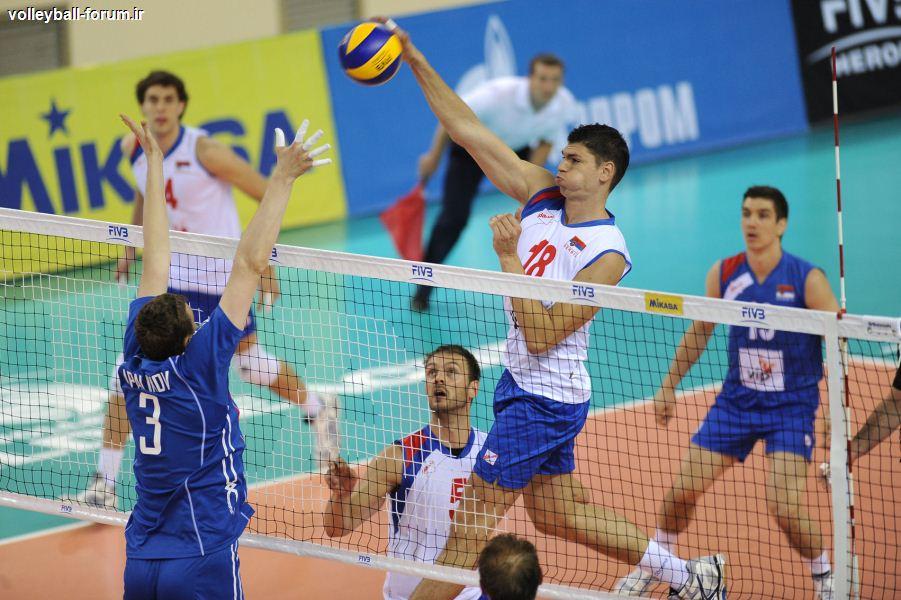 صربستان نخستین امتیاز را از قهرمان المپیک گرفت !