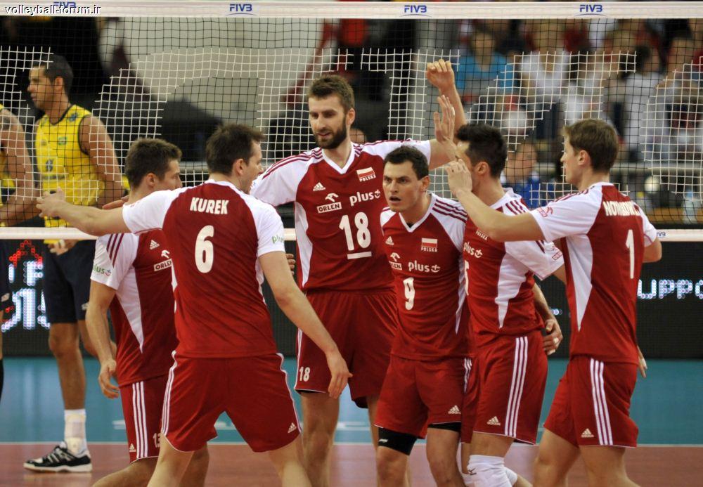 ویدئو کامل بازی دوم لهستان و برزیل در لیگ جهانی والیبال !