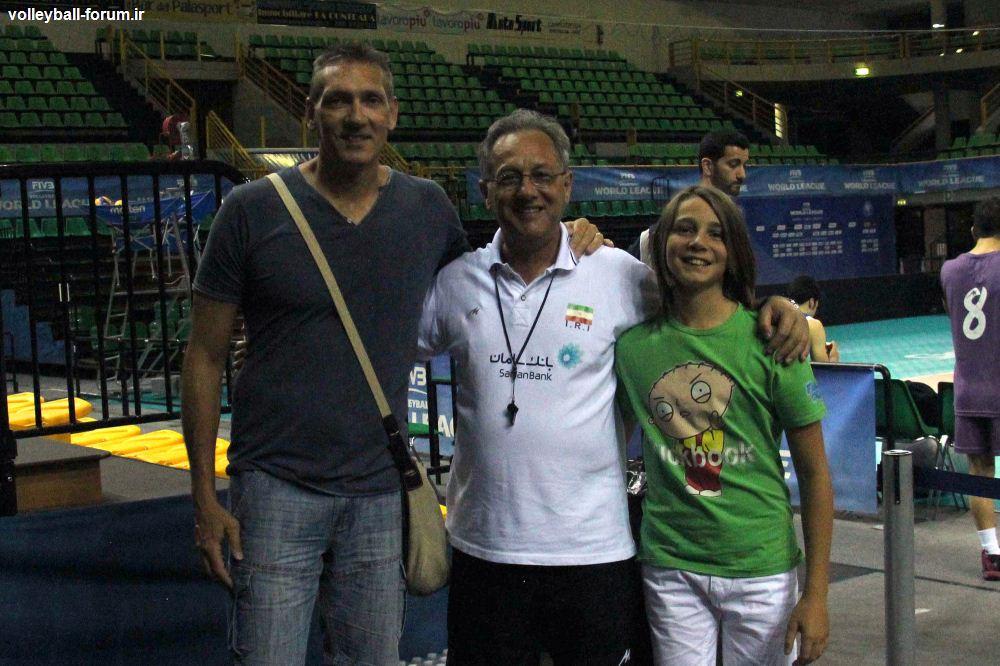 حاشیه جالب تمرین امروز تیم ملی والیبال: شاگرد به استاد خود ادای احترام کرد !