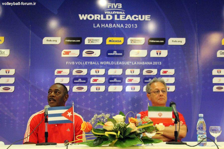 کنفرانس خبری قبل از بازی سرمربیان تیم ملی والیبال ایران و کوبا !