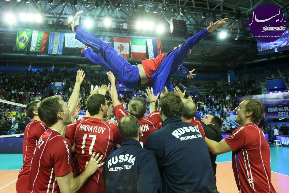 قهرمانی قاطعانه روس ها در لیگ جهانی 2013 والیبال /روس ها همچنان در نوار موفقیت !