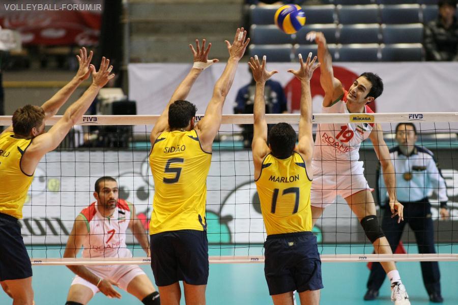 تیم ملی والیبال ایران به مصاف برزیل می رود!
