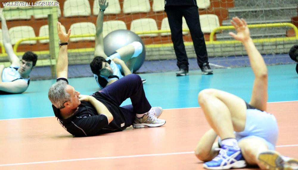 گزارش مختصر از اولین تمرین تیم ملی والیبال ایران بعد از رقابت مقدماتی لیگ جهان !
