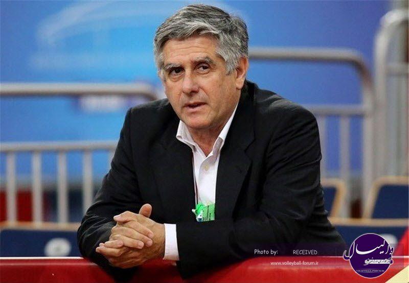 لوزانو: پیشنهاد فدراسیون والیبال برای حضور زودهنگام در ایران را رد کردم