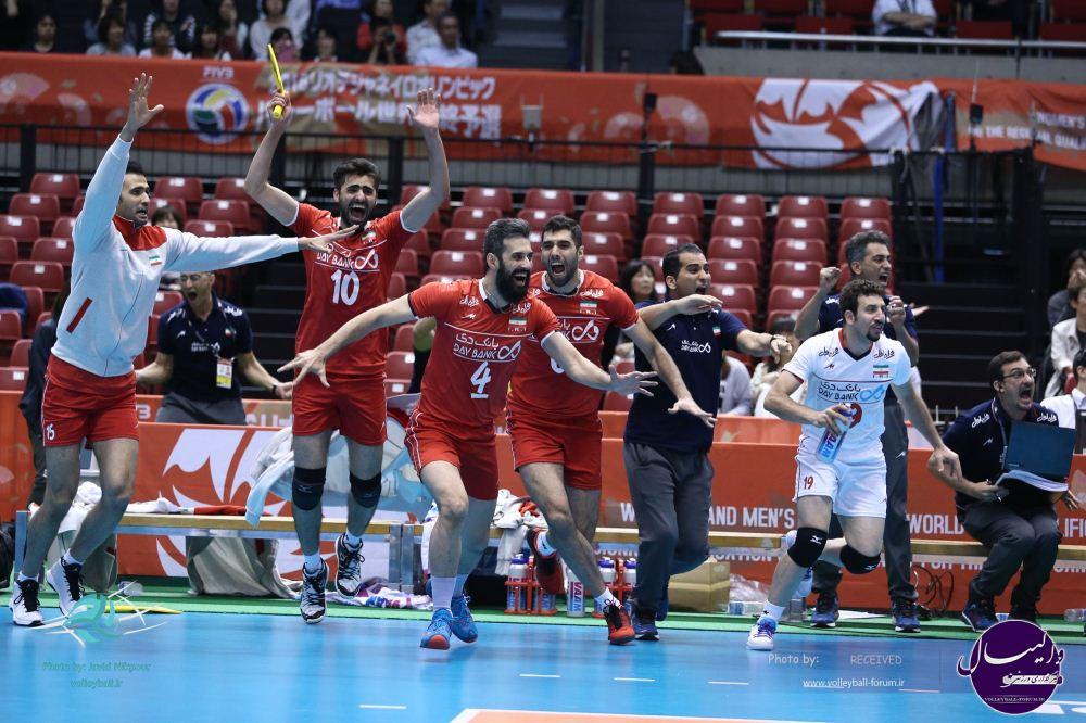پایان دومین روز انتخابی المپیک والیبال با تداوم صدرنشینی ایران
