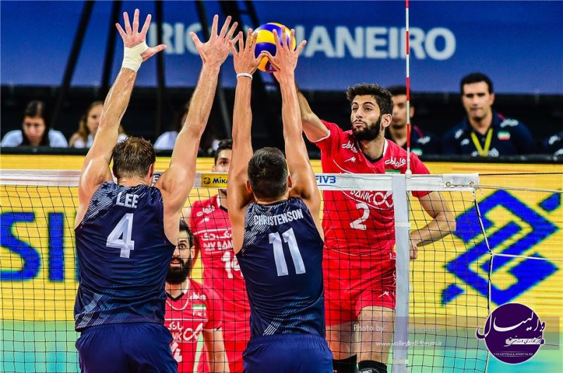 ویدیو / خلاصه والیبال آمریکا 3-1 ایران
