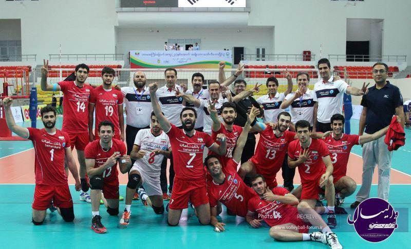 والیبالیست های تیم ملی امید بر بام آسیا ایستادند