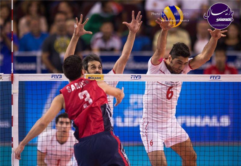 ویدیو نخستین دیدار ایران - آمریکا در لیگ جهانی 2015