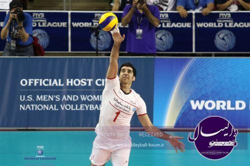شهرام محمودی امتیاز آورترین بازیکن بازی اول ایران و امریکا شد