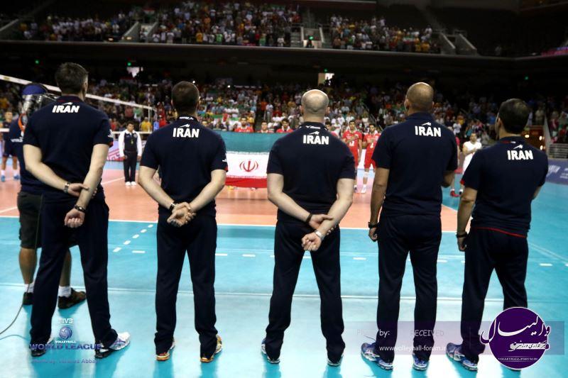 تیم ملی والیبال در دیدار دوم با آمریکا