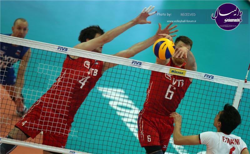 پیروزی بزرگ تیم ملی والیبال در خاک کازان / ایران 3-1 روسیه