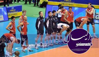 نخستین تمرین تیم والیبال آمریکا در ایران